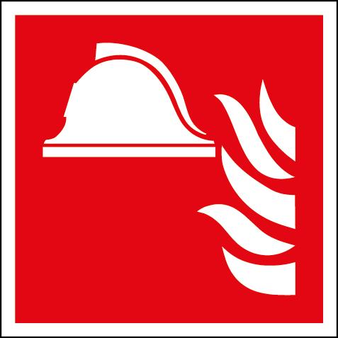 Efterlysande brandutrustningsskylt