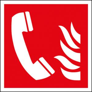 Brandtelefonskylt