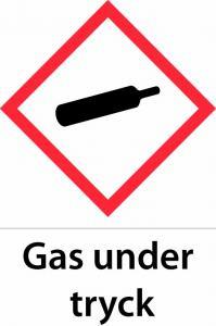Gas under tryck A5 plast
