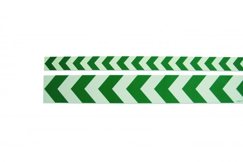 Efterlysande varningsmarkering grön