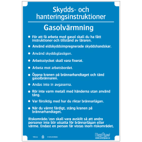 Slöjdinstruktion Gasolvärmning