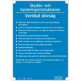 Slöjdinstruktion Vertikal skivsåg