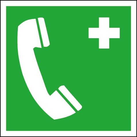 Efterlysande nödskylt nödtelefon