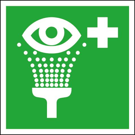 Efterlysande nödskylt ögondusch