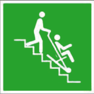 Nödsskylt räddningsstol