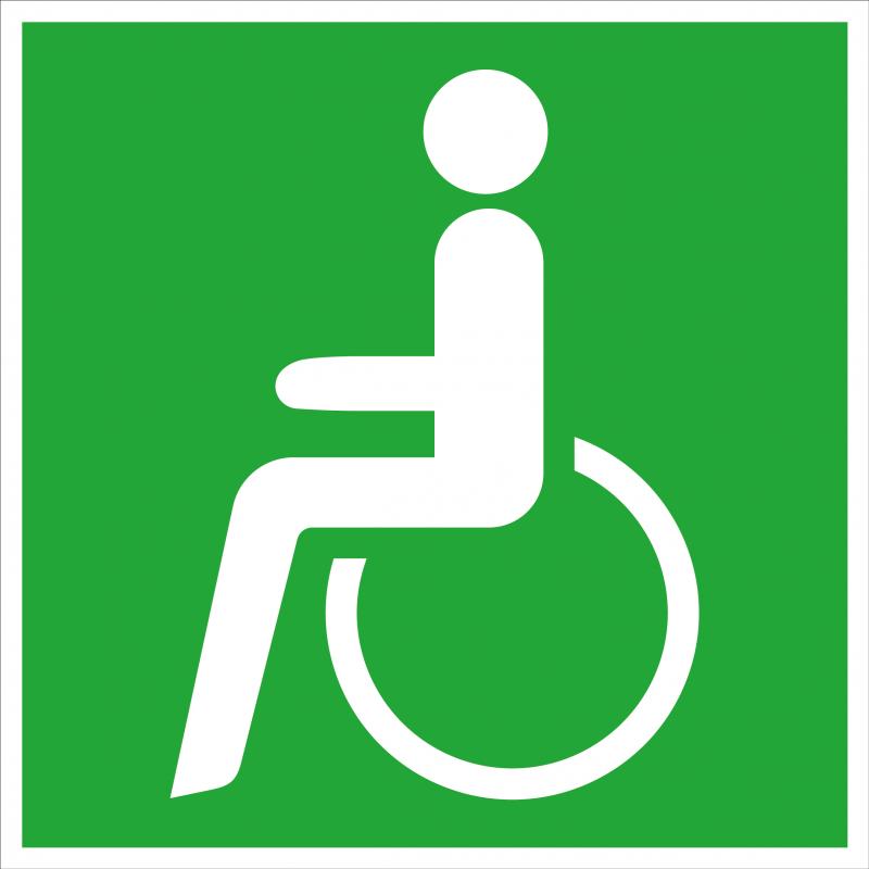 Efterlysande nödskylt rullstol