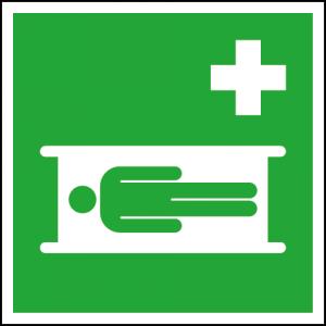Efterlysande nödskylt sjukbår