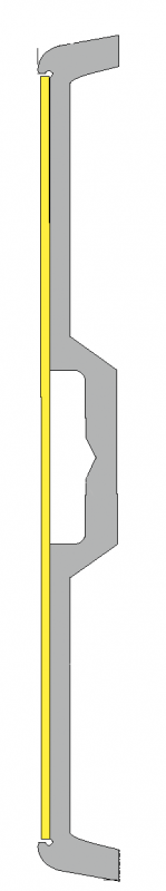 Efterlysande väggmarkering