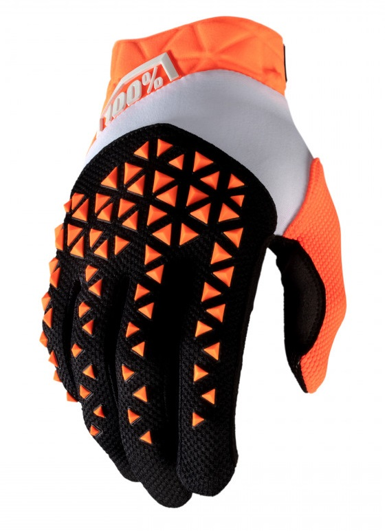100% Airmatic Crosshandskar Svart/Orange