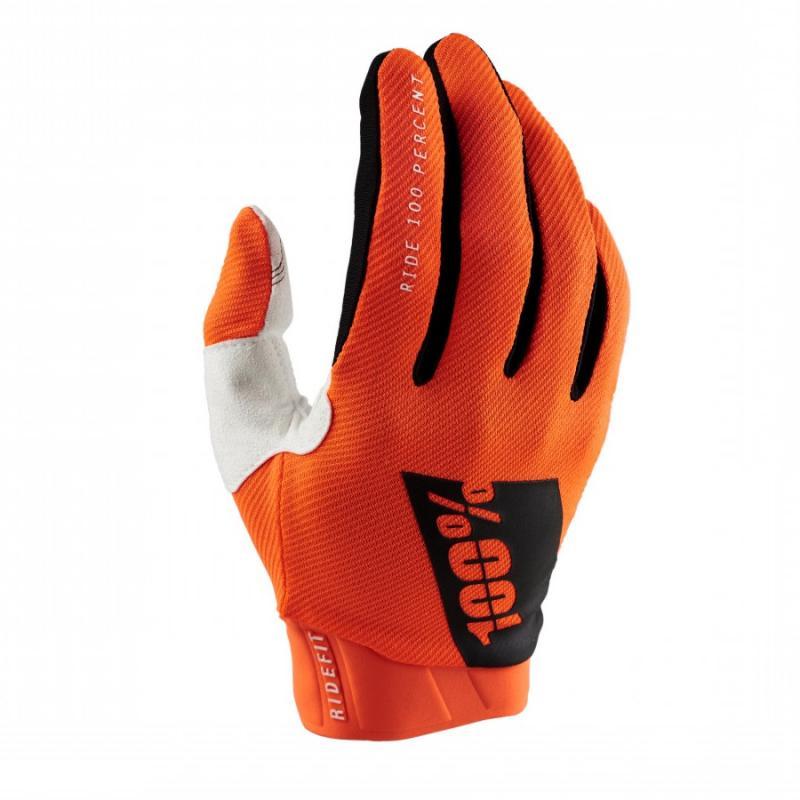 100% Ridefit Crosshandskar Neon Orange