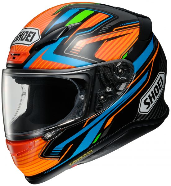 Shoei NXR Stab TC-8 Hjälm Blå/Grön/Orange