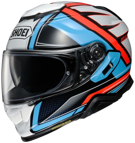 Shoei GT-Air 2 Haste TC-2 Hjälm Blå/Orange/Vit