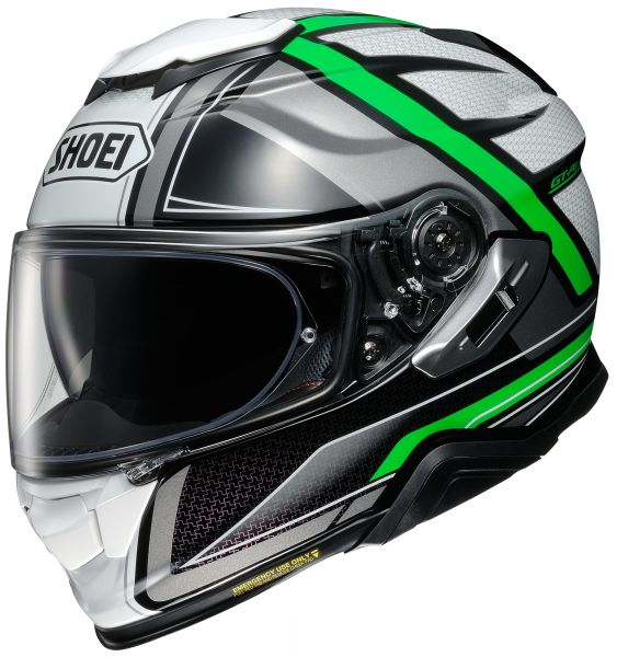 Shoei GT-Air 2 Haste TC-4 Hjälm Grön/Grå/Vit