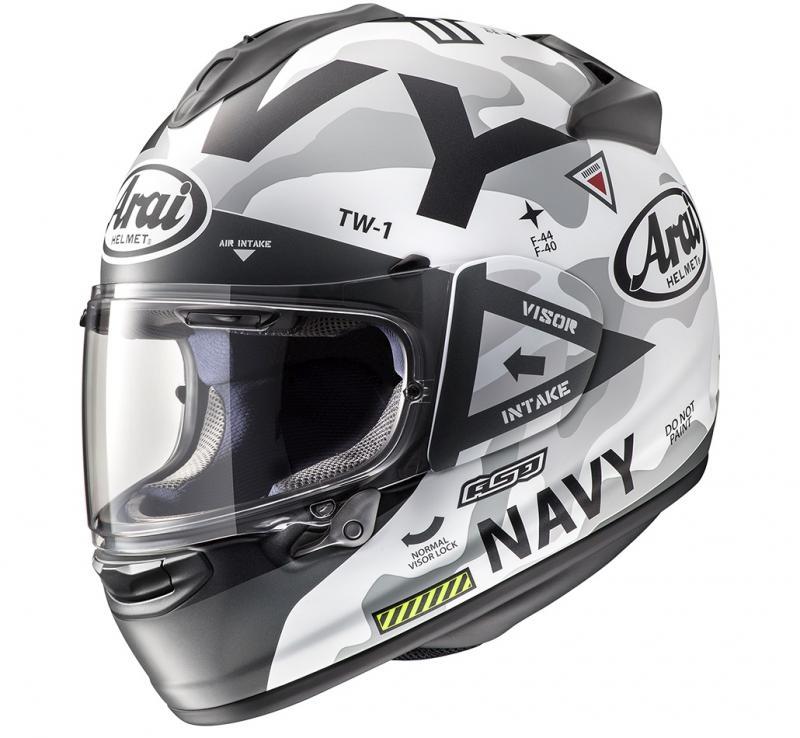 Arai Chaser-X Navy Hjälm Mattsvart/Vit