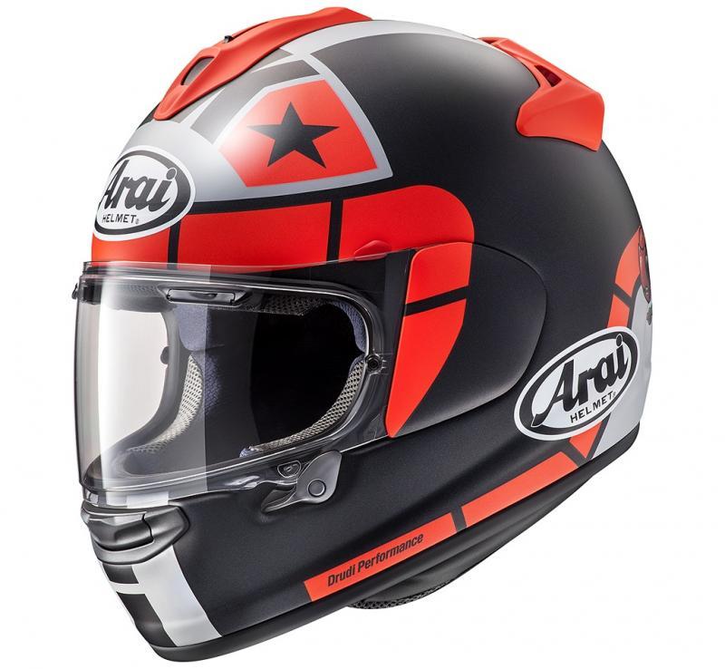 Arai Chaser-X Maverick GP Hjälm Mattsvart/Röd