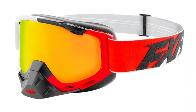 FXR Boost XPE MX Crossglasögon Röd/Vit/Svart