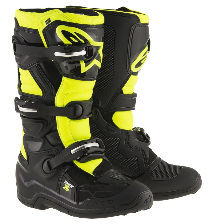 Alpinestars Tech 7s Barn Crosstövel Svart/Fluo