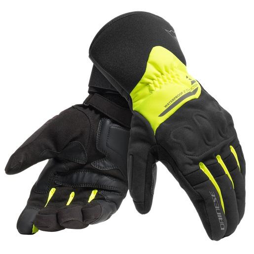 Dainese X-Tourer D-Dry Handske Svart/Fluo Gul