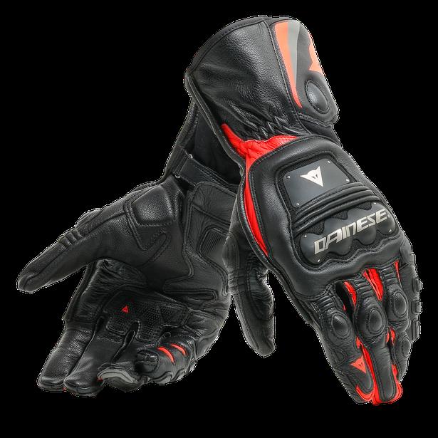 Dainese Steel-Pro Handske Svart/Fluo-Röd