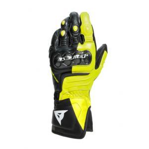 Dainese Carbon 3 Long Handske Svart/Fluo-Gul/Vit