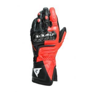 Dainese Carbon 3 Long Handske Svart/Fluo-Röd/Vit