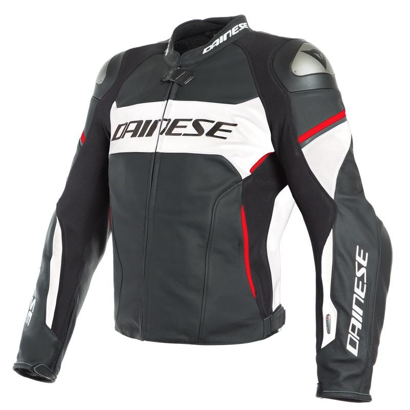Dainese Racing 3 D-Air® Skinnjacka Svart/Vit/Lava röd
