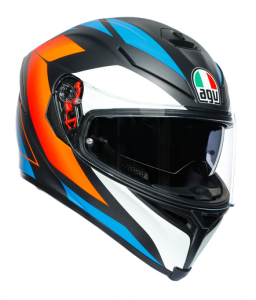 AGV K-5 S Core Multi Hjälm Mattsvart/Blå/Orange