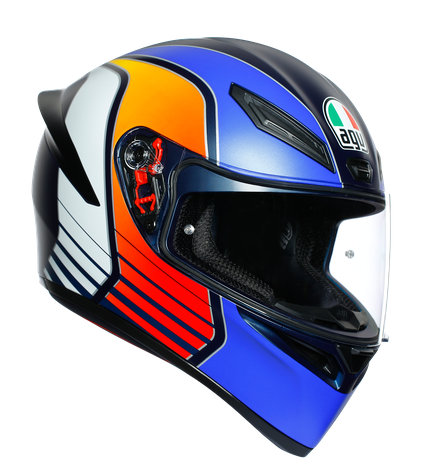AGV K-1 Power Multi Hjälm Mattblå/Orange/Vit
