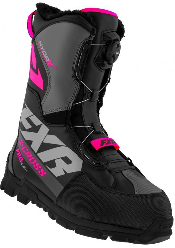 FXR X-Cross Pro Flex BOA Stövel Svart/Rosa
