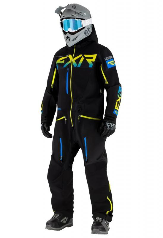 FXR Ranger SX PRO Lite Monosuit Svart/Blå/Hi-vis