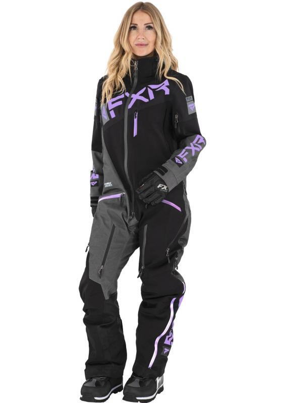 FXR Ranger Instinct DAM Monosuit Svart/Grå/Lila