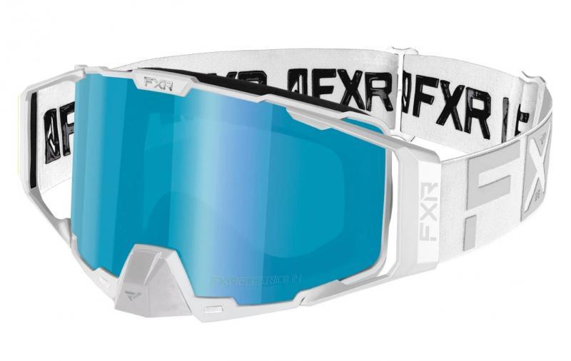 FXR Pilot Snöskoter Glasögon Vit/Blå