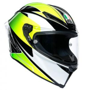 AGV Corsa R E2205 Supersport Multi Hjälm Svart/Vit/Lime Grön
