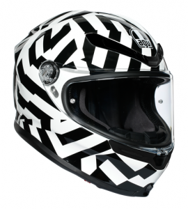 AGV K6 Secret Multi Hjälm Svart/Vit