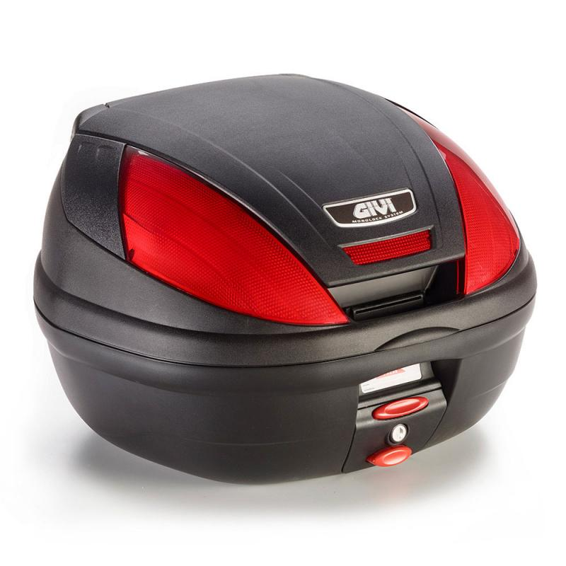 Givi E370 monolock Toppbox Svart/Röd