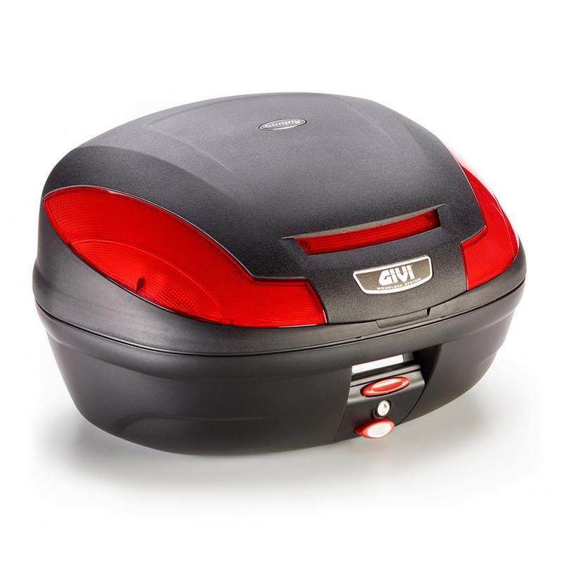 Givi E470 Simply III monolock Toppbox Svart/Röd