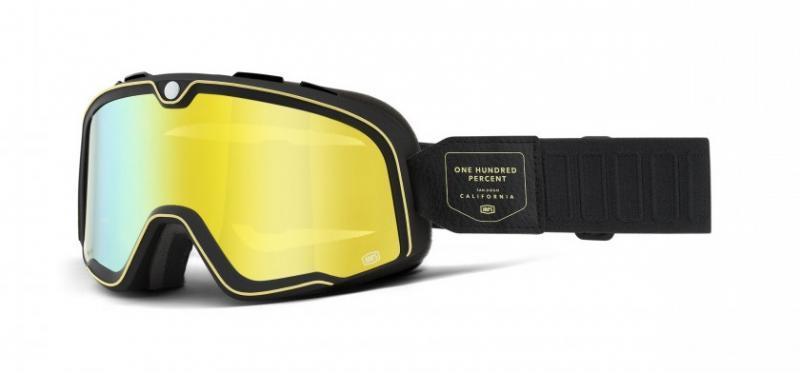 100% Barstow Crossglasögon Caliber, Gul Siktskiva