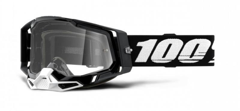 100% Racecraft 2 Crossglasögon Svart, Klar Siktskiva
