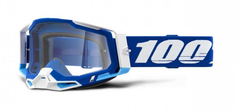 100% Racecraft 2 Crossglasögon Blå, Klar Siktskiva