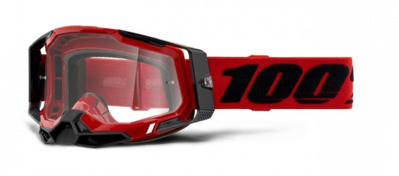 100% Racecraft 2 Crossglasögon Röd, Klar Siktskiva