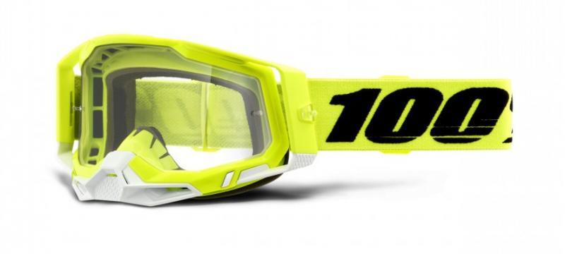 100% Racecraft 2 Crossglasögon Gul, Klar Siktskiva