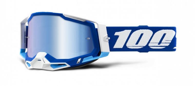 100% Racecraft 2 Crossglasögon Blå, Blåspegel Siktskiva