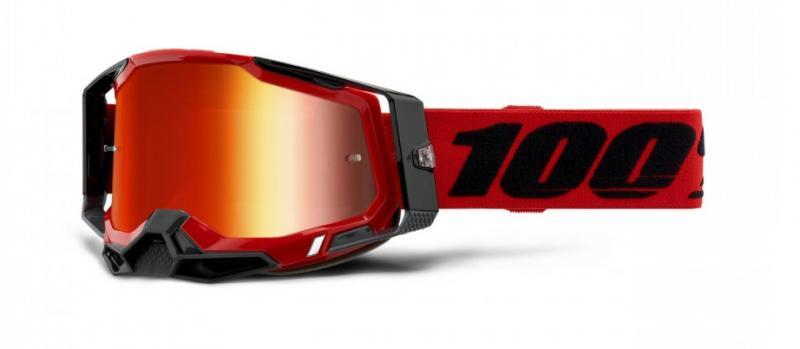 100% Racecraft 2 Crossglasögon Röd, Rödspegel Siktskiva
