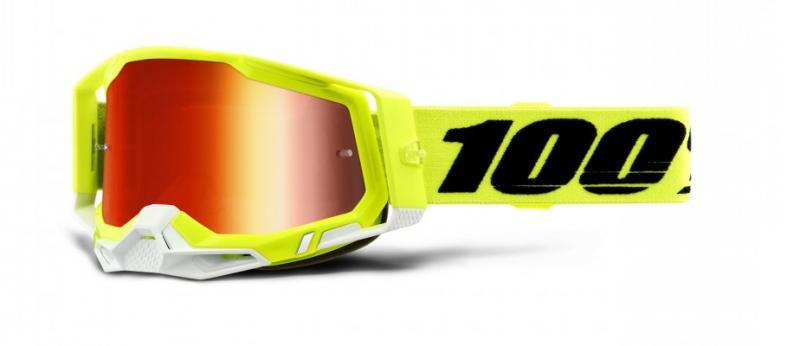 100% Racecraft 2 Crossglasögon Gul, Rödspegel Siktskiva