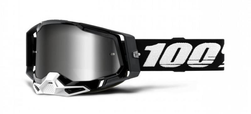 100% Racecraft 2 Crossglasögon Svart, Silverspegel Siktskiva