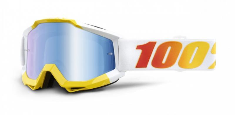 100% Accuri Astra Crossglasögon Vit, Blåspegel Siktskiva