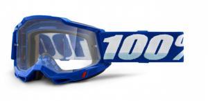 100% Accuri 2 Crossglasögon Blå, Klar Siktskiva