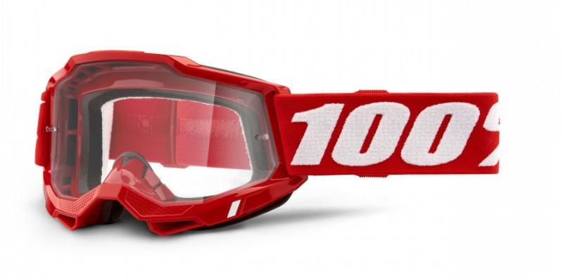 100% Accuri 2 Crossglasögon Röd, Klar Siktskiva