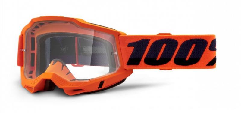 100% Accuri 2 Crossglasögon Orange, Klar Siktskiva