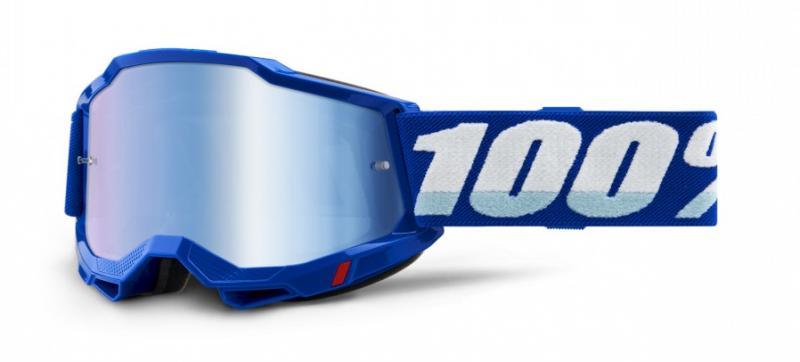 100% Accuri 2 Crossglasögon Blå, Blåspegel Siktskiva